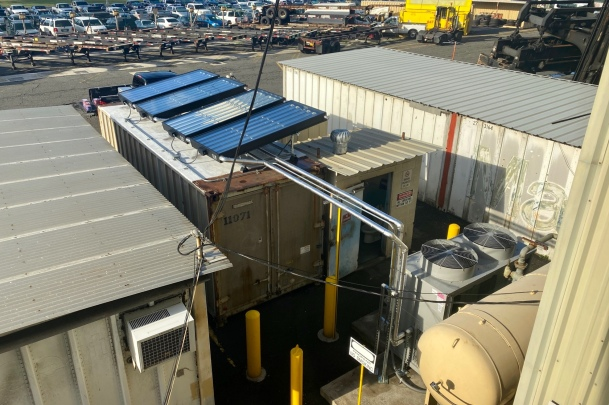 30-ton Carrier chiller with 4 SunTrac panels