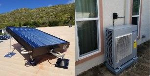 6-feet SunTrac SmartPanel powering a 3 Ton Panasonic air conditioner