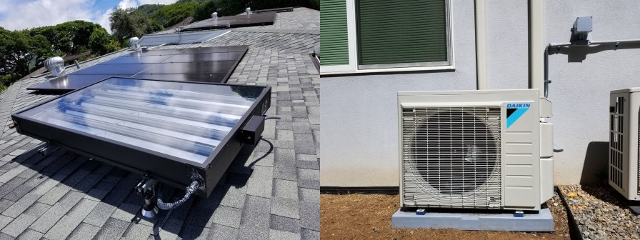 6' SunTrac SmartPanel powering a 3 Ton Daikin air conditioner with four zones
